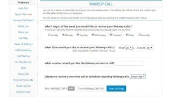 1-Voip Wake Up Calls