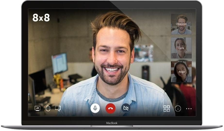 8x8's video conferencing interface