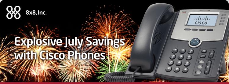 8×8 Inc Offers Summer Savings on Cisco Phones!