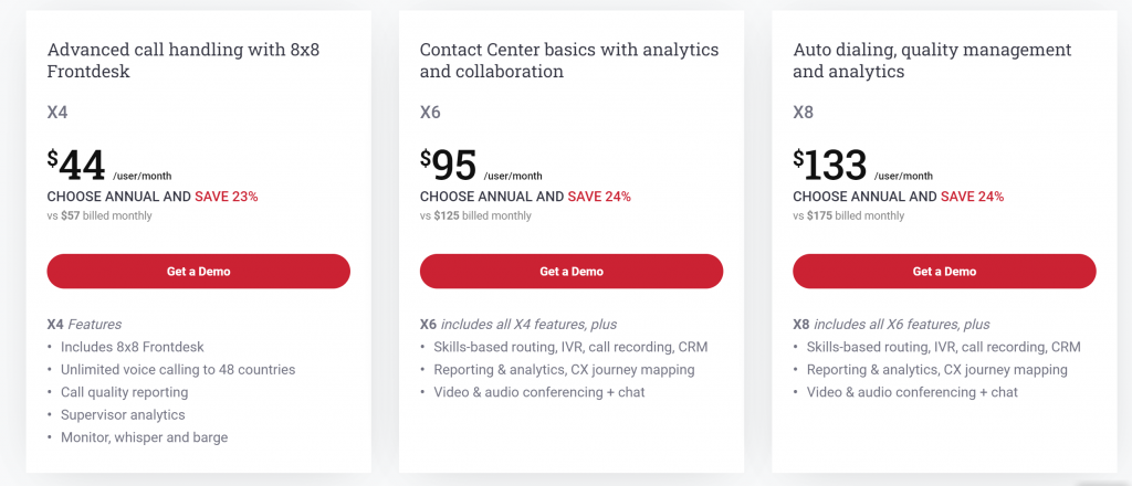 8x8 XCaaS Pricing GetVoIP News