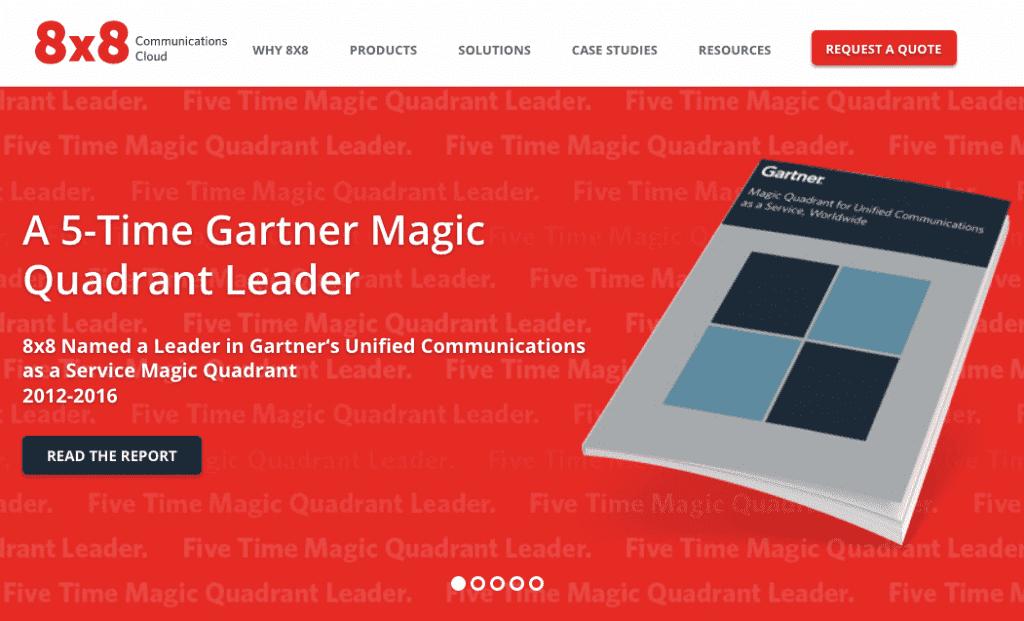8x8: A 5-Time Gartner Magic Quadrant Leader