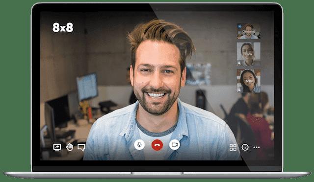 8x8 video call