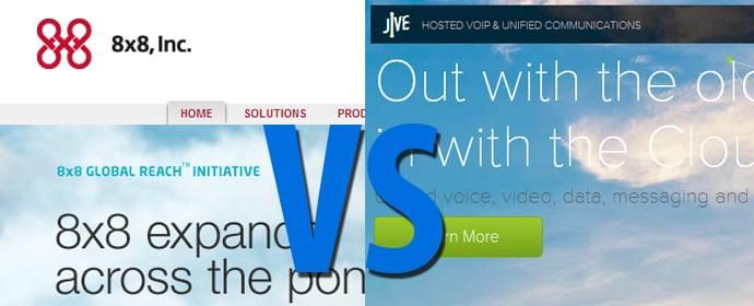 8×8 vs. Jive Communications Comparison