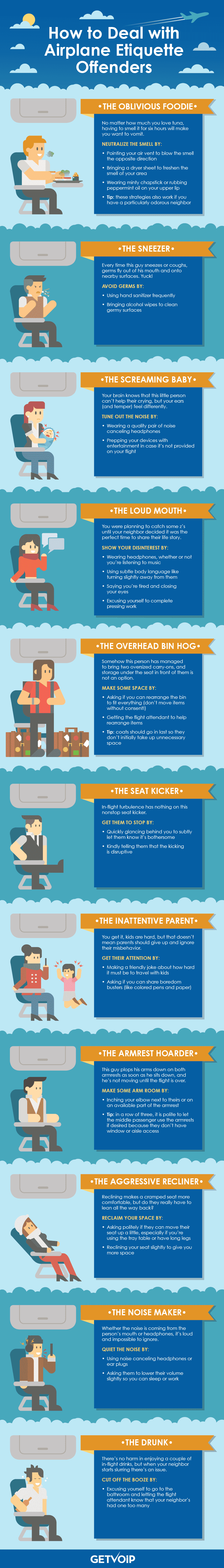 How to Deal with Airplane Etiquette Offenders
