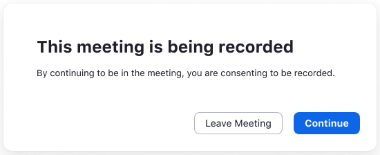 Call recording Notification