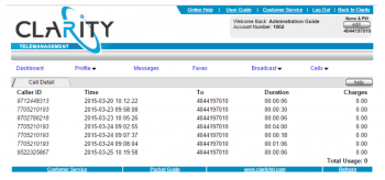 ClarityTel Call Detail Report