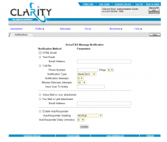 ClarityTel Notification Editor