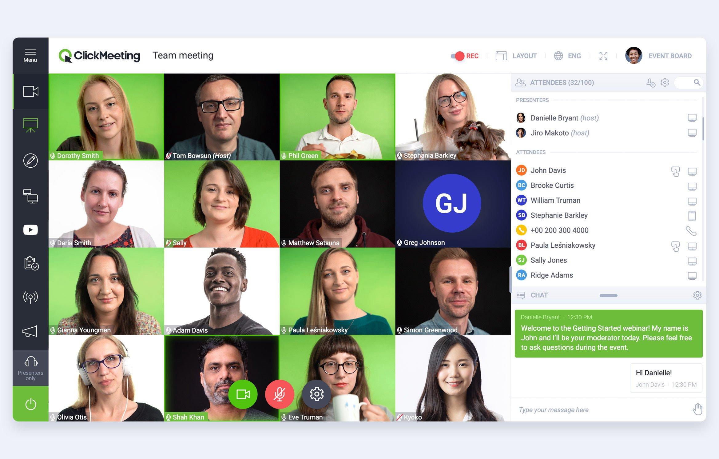 Clickmeeting video conferencing
