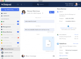 Dialpad Messaging Dashboard