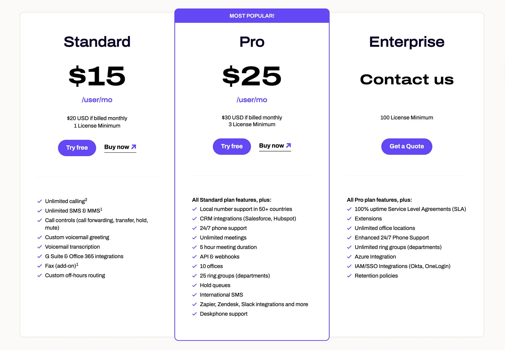 Dialpad Plans and Pricing