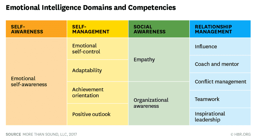 EI domains competencies