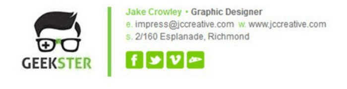 Geekster Email Signature
