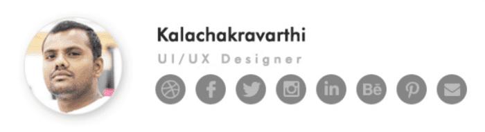 Kalachakravarthi email signature