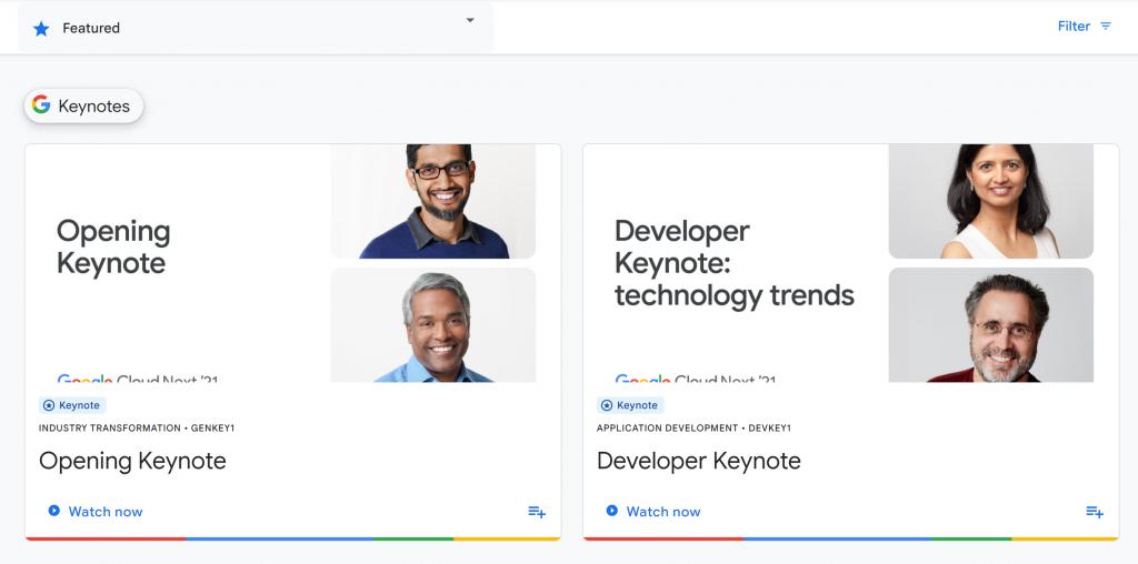 Google Cloud Next 21'