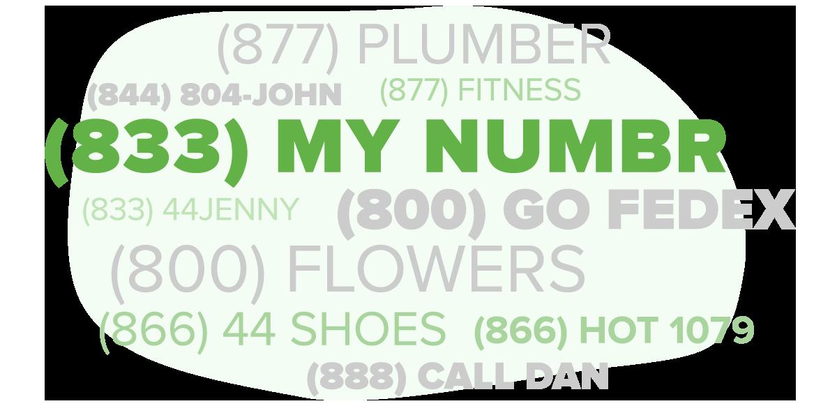 Grasshopper custom numbers - vanity, local, toll free