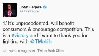 TMobile CEO Tweets