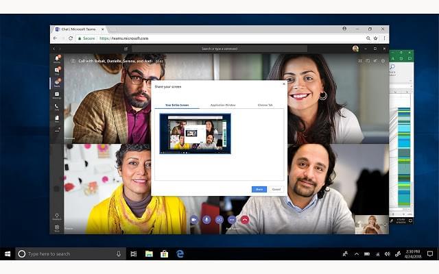 Microsoft Teams Screen Sharing