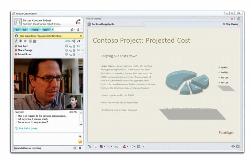 Microsoft Lync Allows for Interactive Video Collaboration