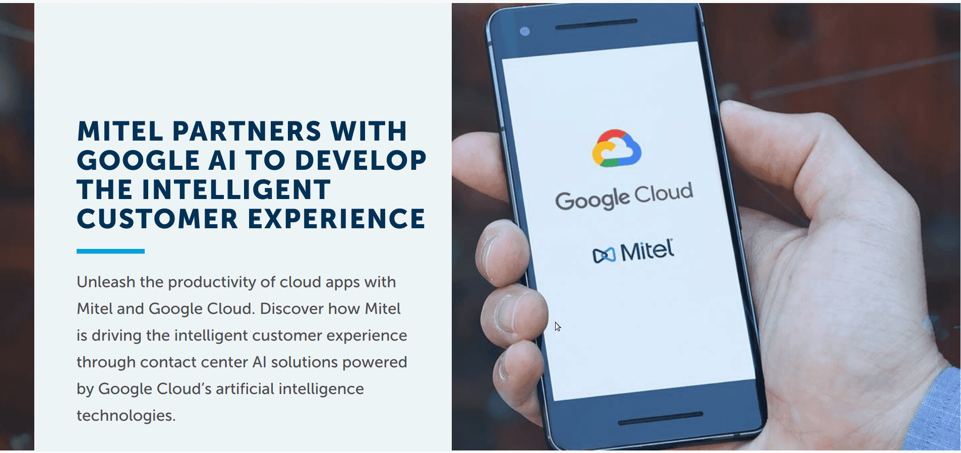 Mitel Expands Virtual Assistant Capabilities with Latest Google Cloud Partnership