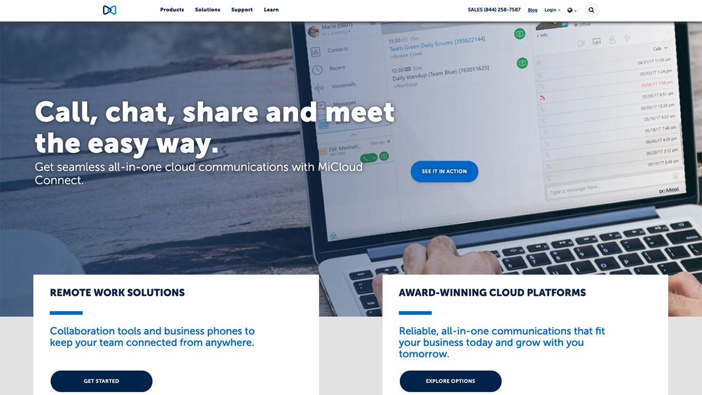 Mitel homepage