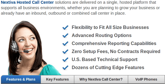 Nextiva Hosted Call Center Features