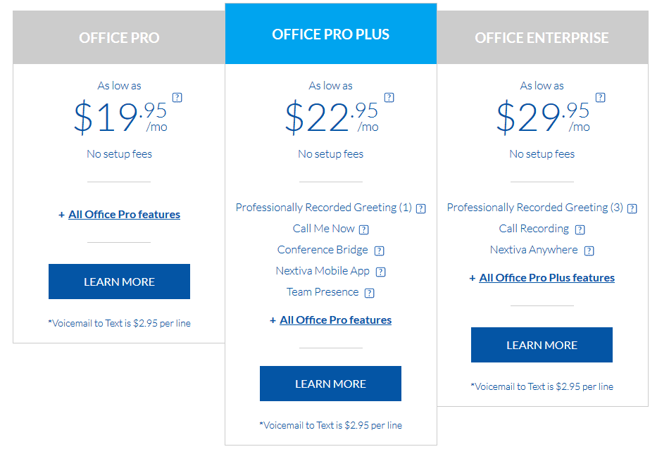 Nextiva Plans and Pricing