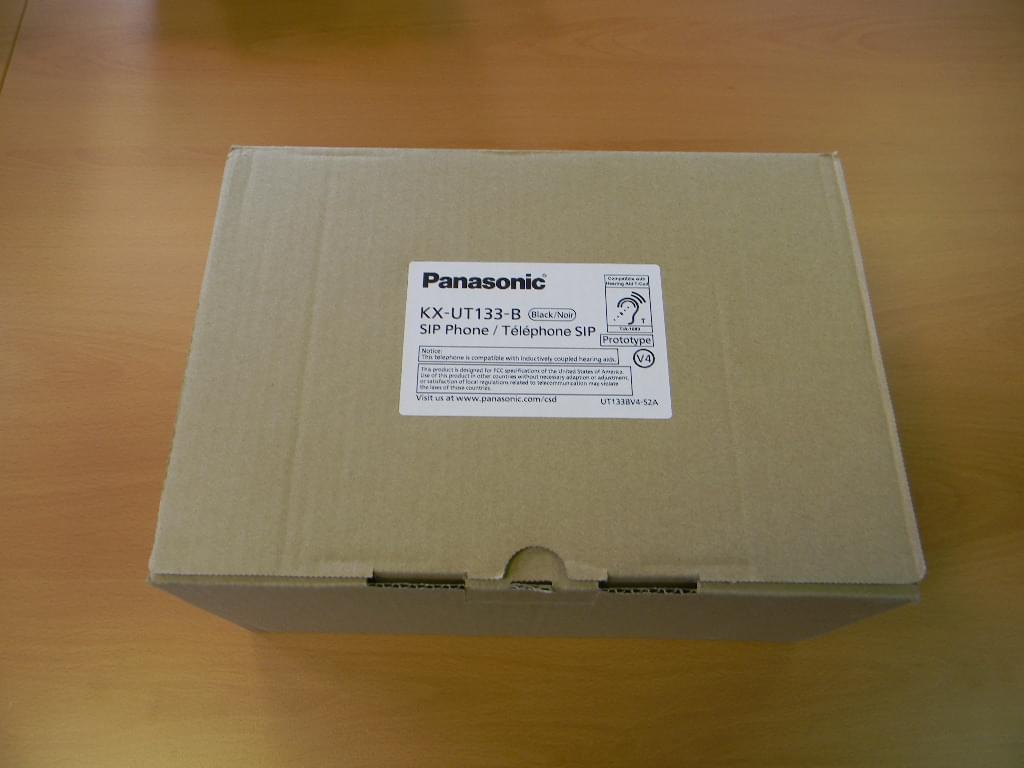 Unboxing Panasonic KX-UT133 IP Telephone