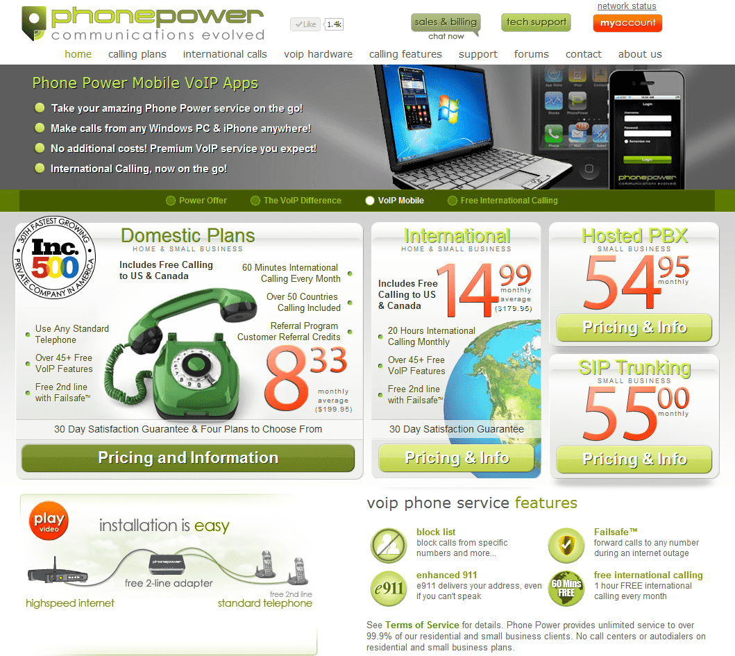 Phone Power Website: First Impressions