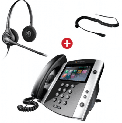 Polycom Phone with Plantronics Headset