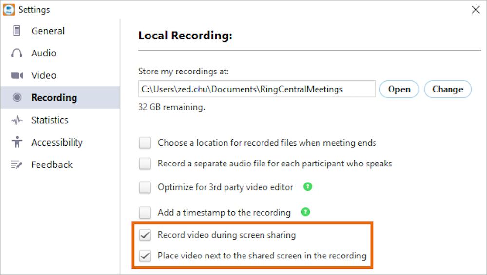 Ringcentral recording