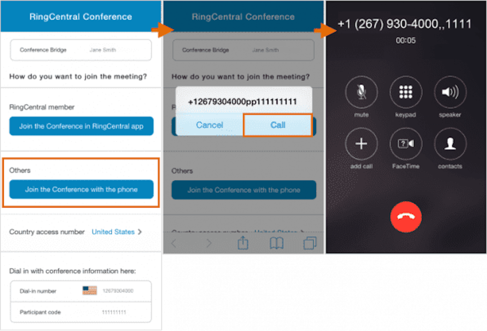 RingCentral Audio Conference