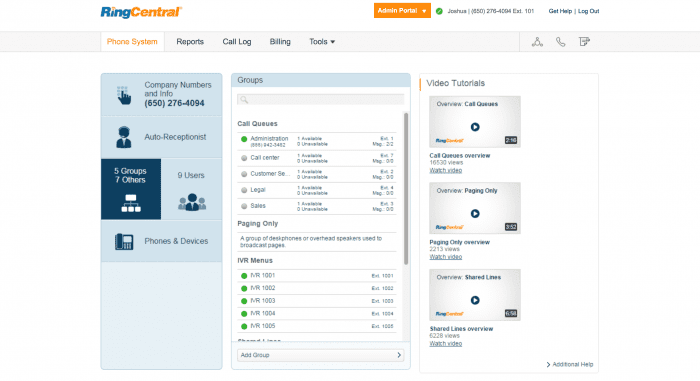 RingCentral call center software pricing