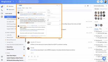 RingCentral Desktop App Search Function