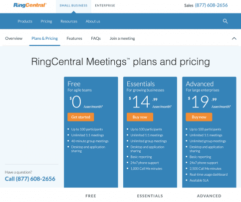 RingCentral Meetings Free Video Conferencing