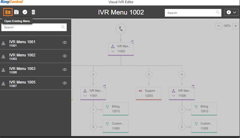 RingCentral IVR