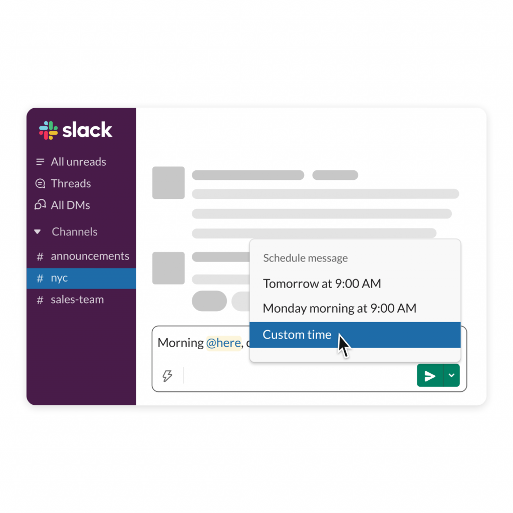 Slack Scheduled Send