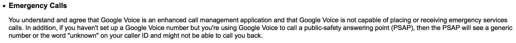Google Voice ToS
