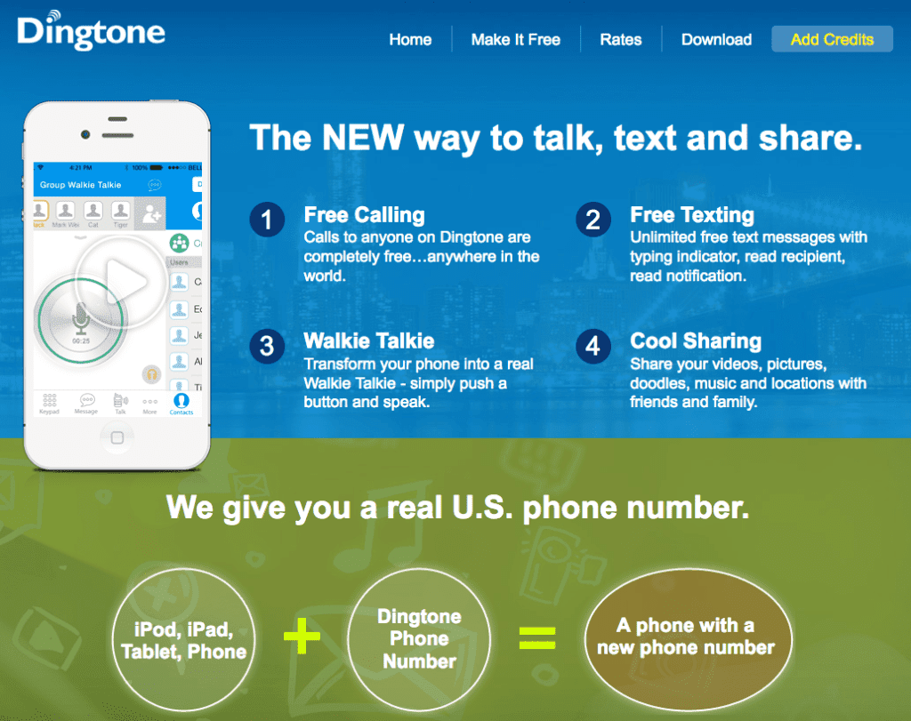 DingTone-Homepage
