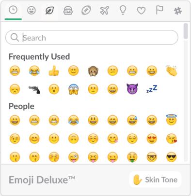 Slack Emoji Menu