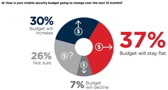 Mobile Security Budget Infographic