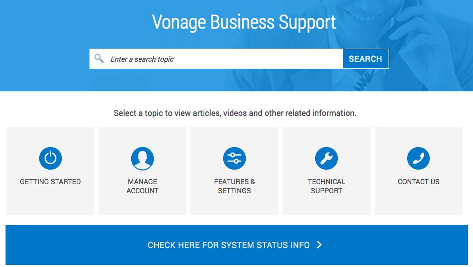 Vonage Business Support