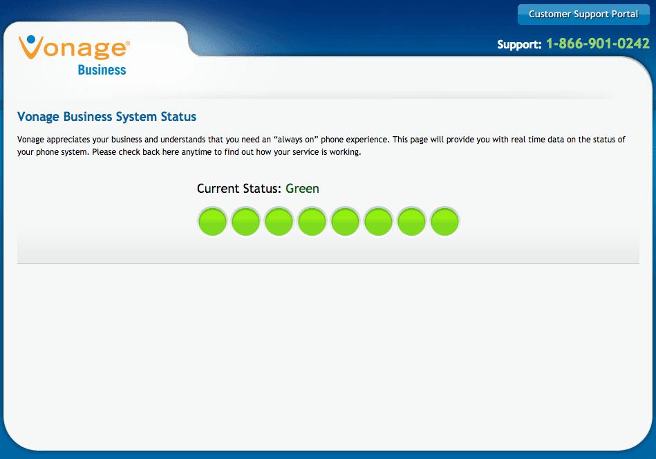 Vonage Systems Status