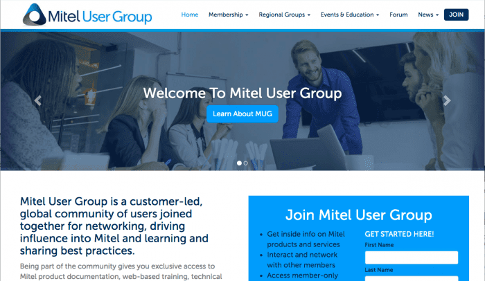 mitel user group customer service