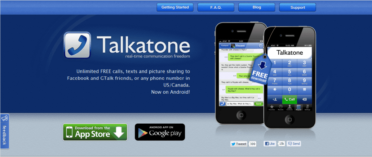 Talkatone: Social & Essential Mobile VoIP