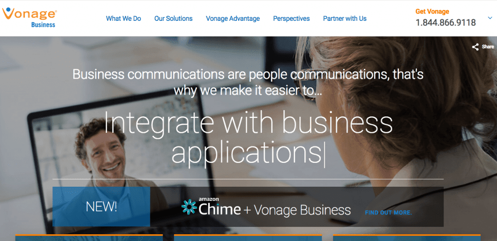 Vonage: Integrate with Business Applications
