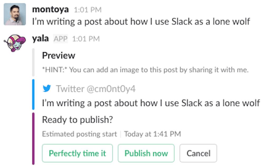 Yala Slack Integration