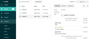 Zendesk Chat Chat History