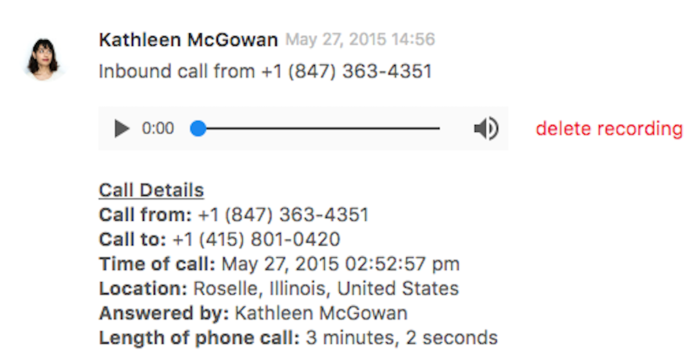 Zendesk voicemail
