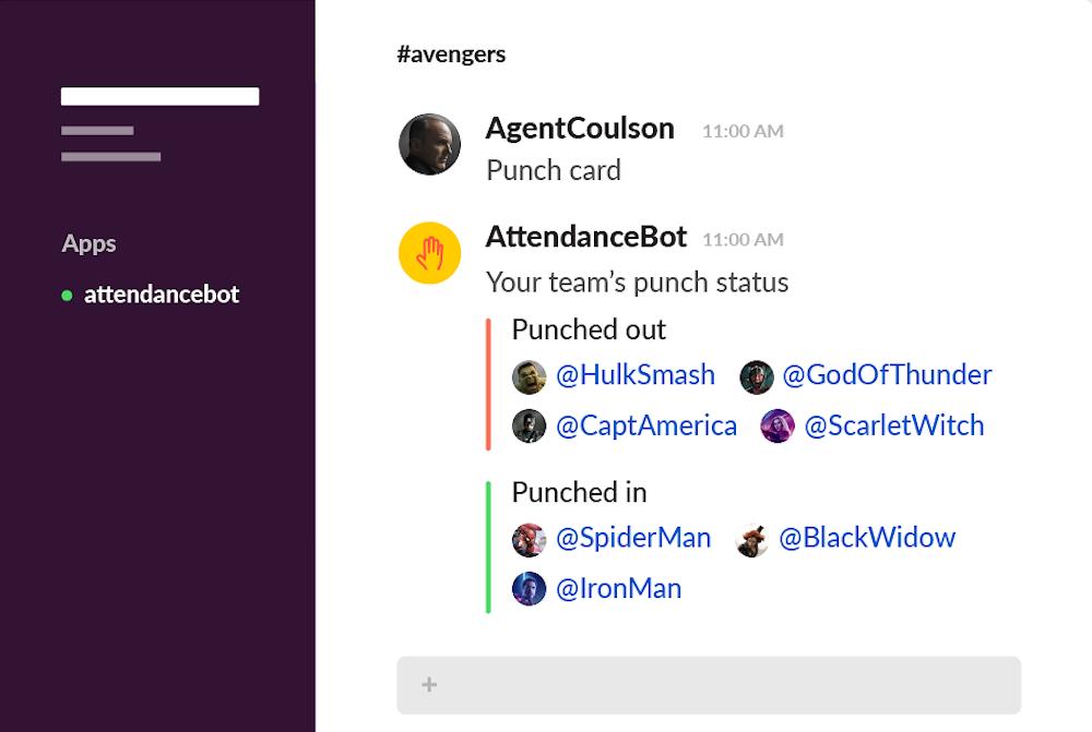Attendance Bot Slack