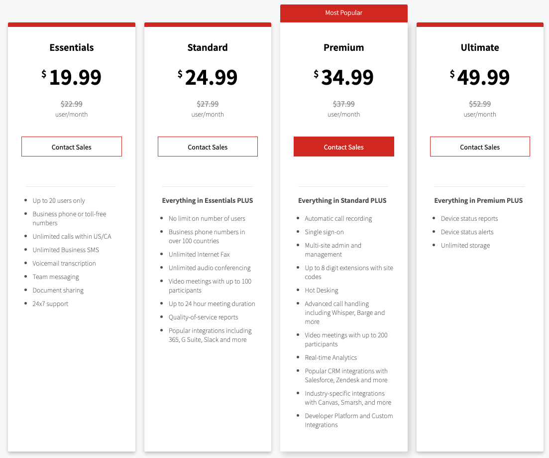 Avaya Office Cloud Pricing & Plans - Updated July 1st, 2021